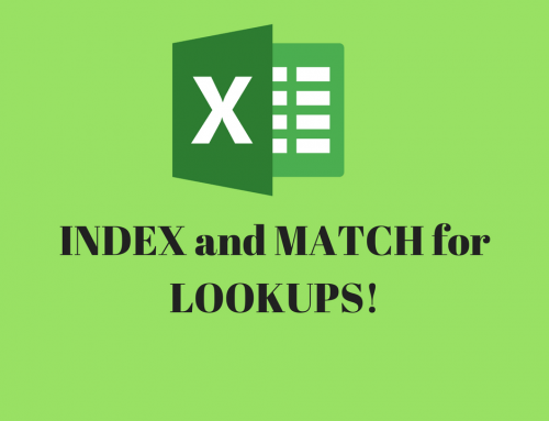 INDEX and MATCH functions in Excel