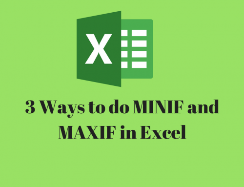 MINIF and MAXIF in Excel – 3 ways to do it [with Video]