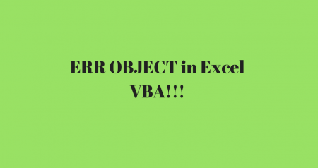 How to use the ERR object in Excel VBA to differentiate errors