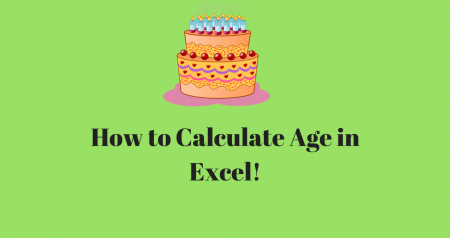 How to calculate Age in Excel | Excel Formula to Calculate Age