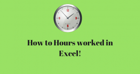 How to calculate hours worked in a shift using Excel!