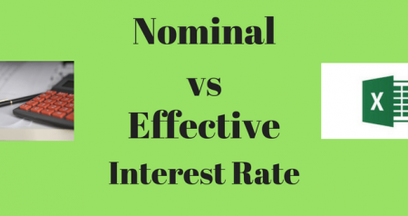 Calculating Nominal and Effective Interest Rates in Excel
