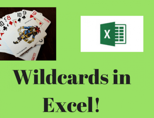 How to use a Wildcard in Microsoft Excel!