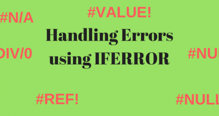 Handling errors in Excel using IFERROR