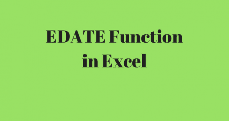 EDATE Function for adding and subtracting months!