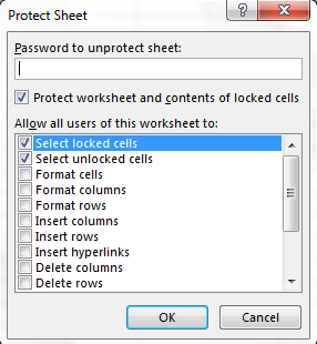 Locking and Unlocking cells in Excel 9