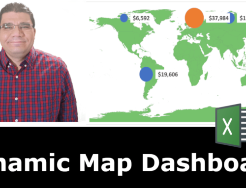 Map Chart/Dashboard using Excel