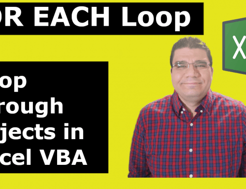 FOR EACH Loop in Excel VBA